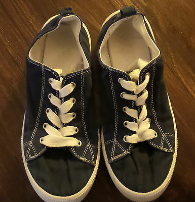 Kids Navy Blue Casual Holiday Canvas Shoes Size 5 5