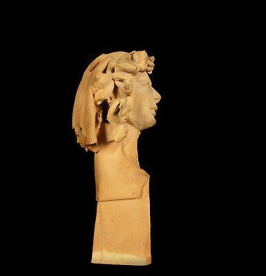 Busto de Mujer de Barro Cocido 11,5 cm Accidentes y Miss You Woman Escultura 8