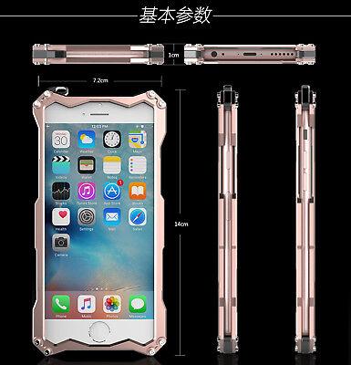 For iPhone 5s SE 6s 7 Plus Luxury Shockproof Aluminum Metal Slim Hard Cover Case 8