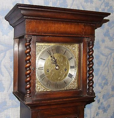 Antique Oak Grandmother / Miniature Grandfather Clock : Weight Driven Movement 3 • £2,750.00
