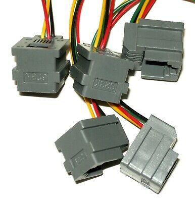Lot of 5 Modular Jacks with leads RJ11/RJ14 wiring 6P4C, Part# 623K, see photos 6