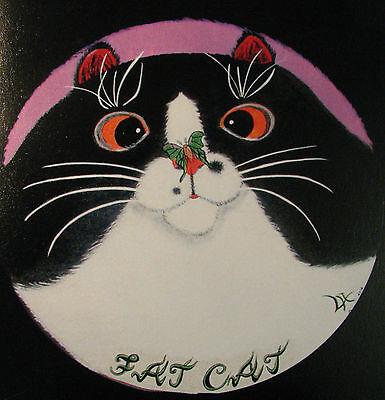 """C226    Original Acrylic Painting By Ljh  """"Meo & Tia""""  Siamese  Cat 12"""
