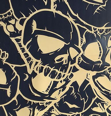 ANGRY SKULLS W// TRANSPARENT HYDROGRAPHIC WATER TRANSFER FILM HYDRO DIP DIPPING