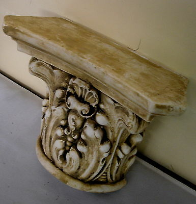 Pair Antique Finish Shelf Capitol plaster Wall Corbel Sconce Bracket Home Decor 5