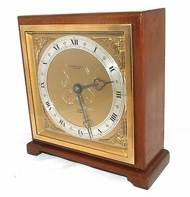 Large ELLIOTT LONDON Walnut Bracket Mantel Clock : H L BROWN & SON LTD SHEFFIELD 3