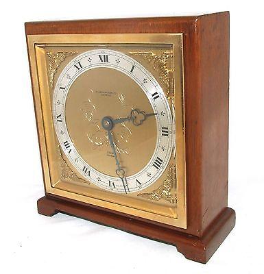Large ELLIOTT LONDON Walnut Bracket Mantel Clock : H L BROWN & SON LTD SHEFFIELD 3
