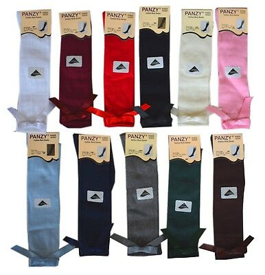 6 Girls Knee High School Bow Socks 80% cotton children kids All Size 1/3/6 Pairs 3