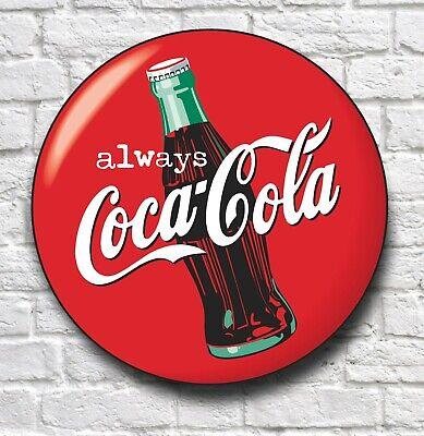Coca Cola Logo Signe Rétro Photo Bar Pub Cafe USA restauration drink Logo environ 0.61 m Grand 2 FT
