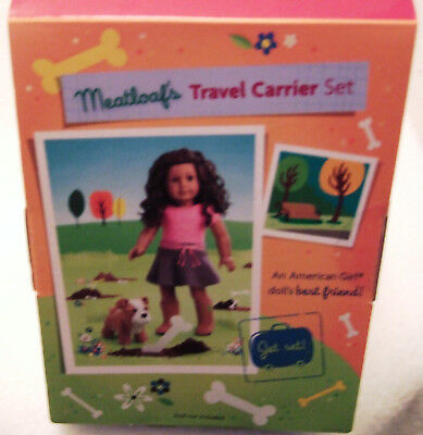 American Girl Meatloaf's Travel Carrier Set Bulldog Accessories - RETIRED 3