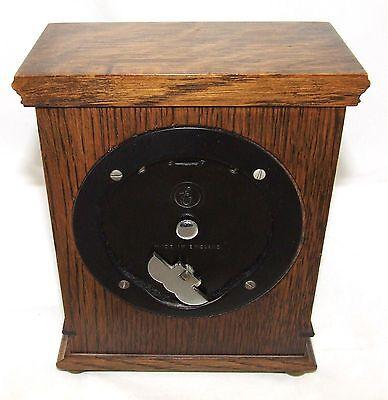 Oak with Blind Fretwork Bracket Mantel Clock by ELLIOTT LONDON 10