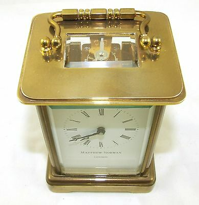Wonderful Swiss Brass Carriage Clock : MATTHEW NORMAN LONDON SWISS MADE 5 • EUR 410,33