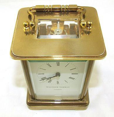 Wonderful Swiss Brass Carriage Clock : MATTHEW NORMAN LONDON SWISS MADE 5