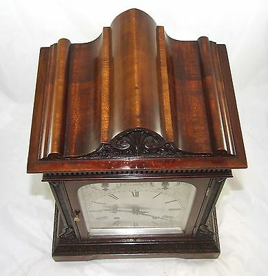 Winterhalder W & H Antique Mahogany TING TANG Bracket Mantel Clock CLEAN SERVICE 9