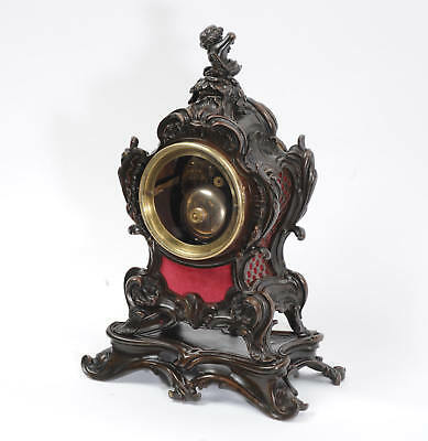 Japy Freres Antique French Bronze Rococo Table Clock Music Fully Working C1890 8