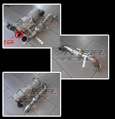 Downpipe Inox 400 Celle Tubo Rimozione Dpf Fiat Tipo Egea 1.6 Mjet Euro6 120Cv 2