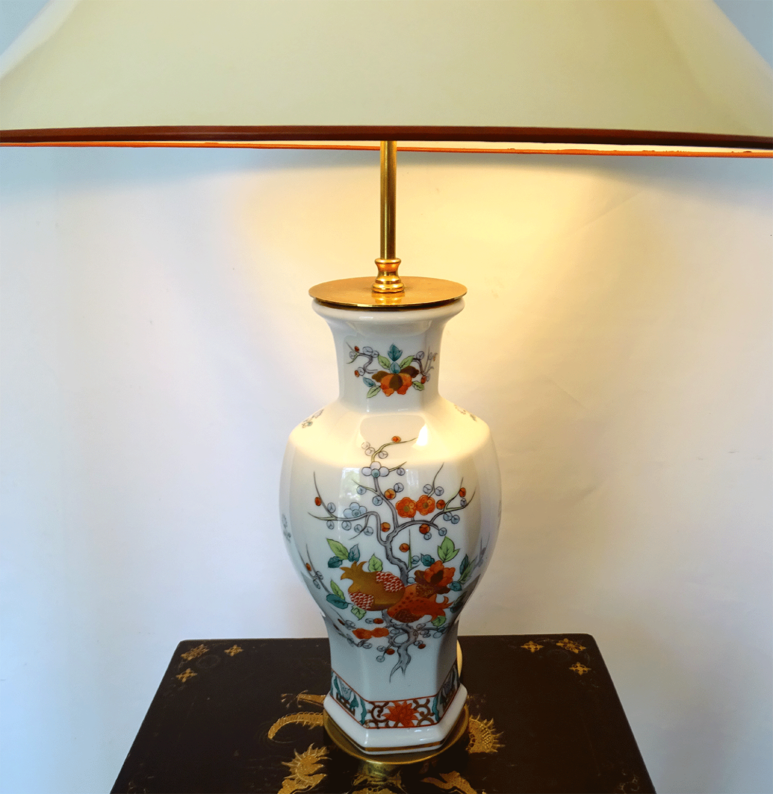 Antik Porzellan Tischlampe Lampe Antique Chinese table lamp Famille Rose