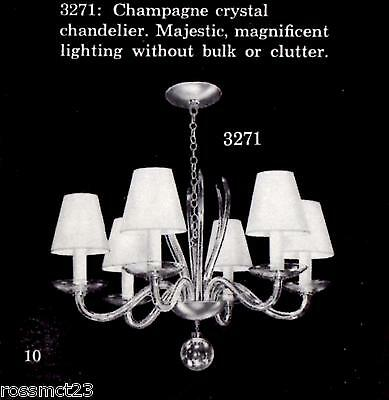 Vintage Lighting 1950s Mid Century high quality chandelier by Lightolier 2