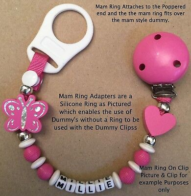 🐘PERSONALISED DUMMY CLIP 🐘 ELEPHANT 🐘 Name - 12 Letters 🐘 PASTEL Colours🐘