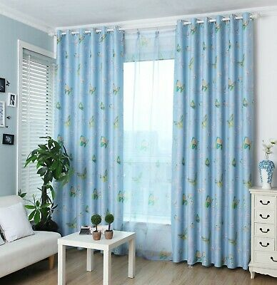 Butterfly Thermal Blackout Ready Made Eyelet Curtains - Dimout Energy Saving 2