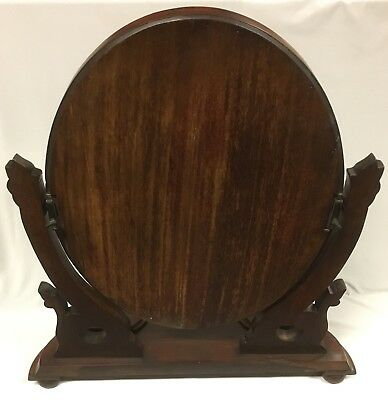 Antique Victorian Mahogany Toilet Mirror with Scroll Supports and Compartments 11