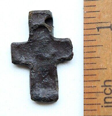 Ancient Russian Orthodox Bronze Cross ''Deesis'' (JAN01) 2