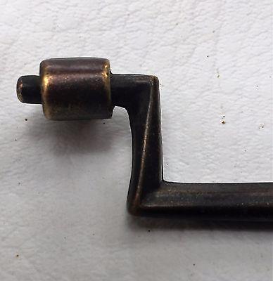"""3 1/2"""" center brass antique vintage mid century modern Drawer Pull arts & craft 4"""