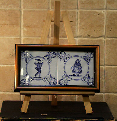 Vintage Collectible Handpainted Blue White Wall Tile 2