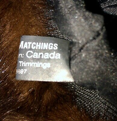 Mitchies Matchings Women's Leather Hat With Real Fur Trim EUC 8