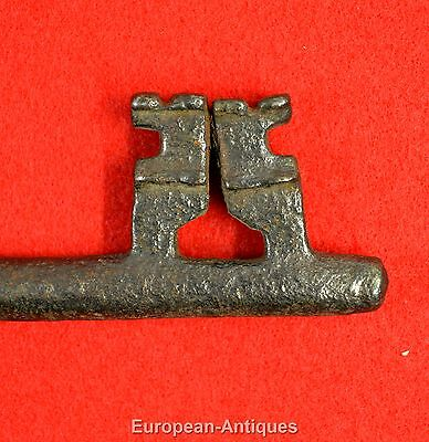 "Antique KEY 17th-19th C. English or French 6"" Castle Door Church Jail House Lock 5"