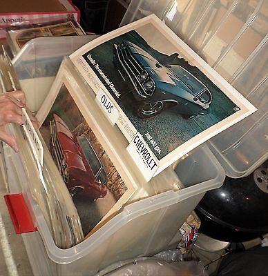 Magazine Car & Truck Ads: Pristine 2100 Qty. Sealed Sleeves w/Boards: 1920s-1973 11