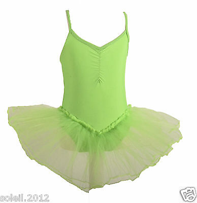 Ballettkleid Ballettanzug Tüllrock Größenwahl Pink Farbwahl Tutu Tütü Rock Neu
