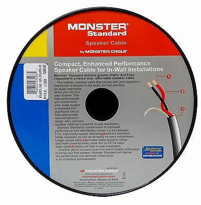 MONSTER CABLE S16-2RCL Speaker Wire CL3 In Wall Rated - 16 Gauge ...