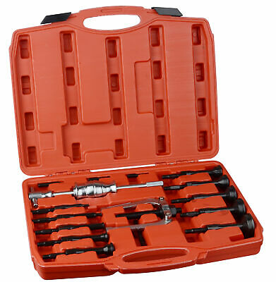 New 16 PC Piece Bearing Extractor Set Inner Internal Blind Remover Bushes Puller 2