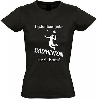 T-shirt mit Flockdruck Badminton Fun Shirt