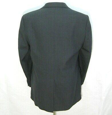 IMPERIAL Men's (Size 44L) Dark Gray 2 Button Sport Coat Blazer Suit Jacket Wool 2