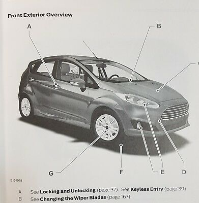 GENUINE FORD FIESTA QUICK REFERENCE GUIDE 2013-2018 Car Manuals ...