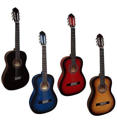 Gitarre 3/4 Matt-Lack_Vers. Farben_Set Mit Zubehör_Tasche_Saiten_Kapodaster_Mi36