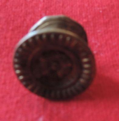 Antique 19th c. Spun Brass Furniture Knob Drawer Pull Handle Federal Regency 3