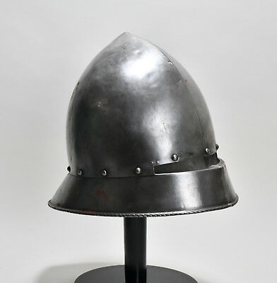 Aphrodite- Antique Wrought Steel German Form Helmet