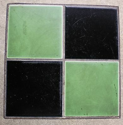 Vintage Ceramic Tile Wrought Iron Bamboo Leg Table #01 2