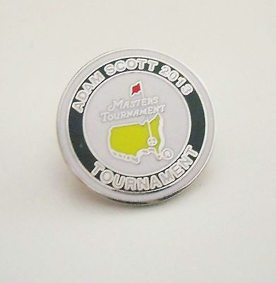 1 only ENAMEL ADAM SCOTT TRIBUTE 2013 US MASTERS  GOLF BALL MARKER-Special price