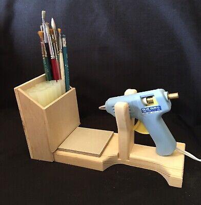 Hot Glue Gun Holder Regular & Mini Original Wood Stand Organizer Floral Crafts 2