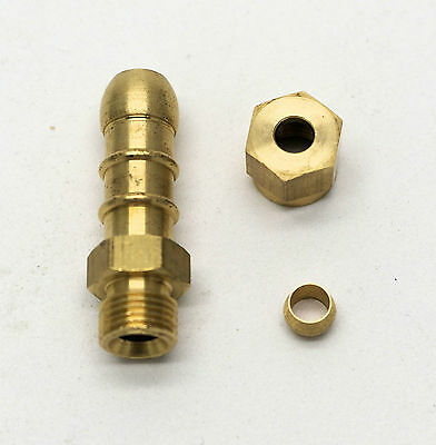 British Made 3/16 COMPRESSION FITTING TO LPG FULHAM NOZZLE TO 8mm I/D HOSE (6)