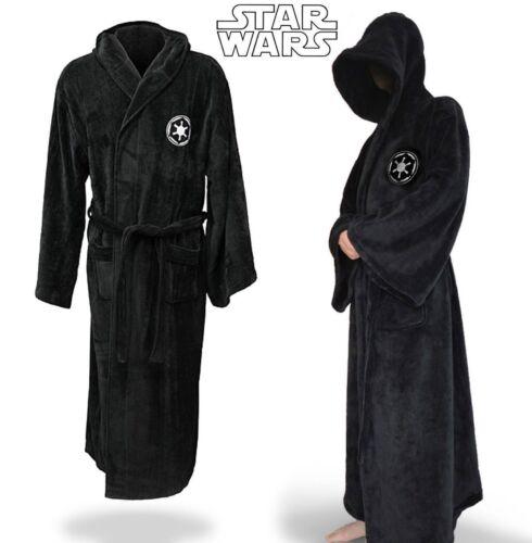 STAR WARS SOFT Bathrobe Hooded Dressing Gown Pajamas Mens Cloak Cape ...
