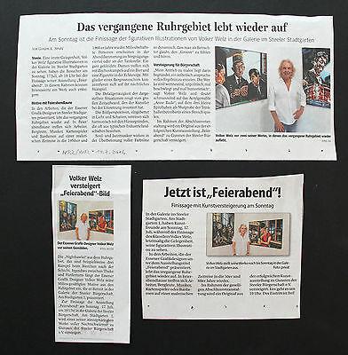 Skat Kumpels Wanne Eickel Herten Castrop Rauxel Druckgrafik by Volker Welz AK 4