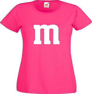 SCHLUSSVERKAUF Gruppenkostüm für M&M Fans MM Fasching Shirt 2