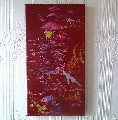 Red Abstract Painting Original Canvas Art Textured Artwork OOAK Wall Home Decor 5