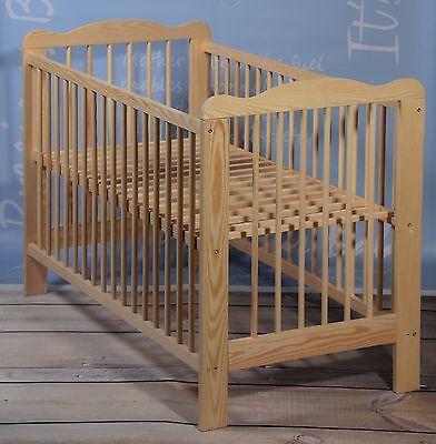 Beistellbett Babybett Komplett Set Gitterbett Kinderbett 2 in1 Massivholz 4