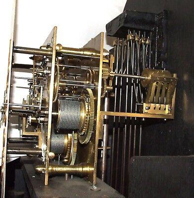 Antique Musical Chiming Mahogany Longcase Grandfather Clock LISTER & SONS 11