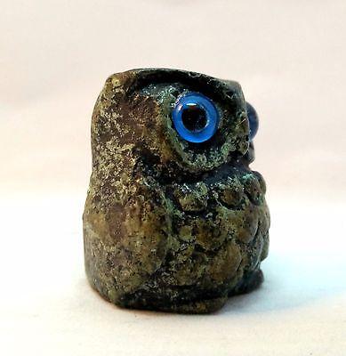 Ancient Greek Bronze Museum Replica Of Owl Symbol Of Athena Goddess Of Wisdom 3